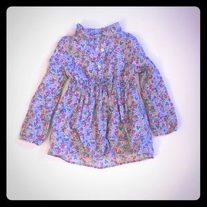 Tunic length dress shirt